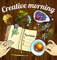Creative morning vector image