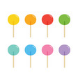 cute colorful lollipops candies sweets vector image vector image