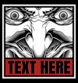 demon with text hand drawing vector image vector image