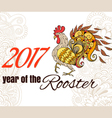 Drawing of the bird The symbol of the chinese new vector image vector image