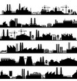 factory construction silhouette industrial vector image