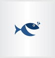 fish smile logo icon sign vector image vector image
