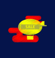 flat shading style icon air balloon sale vector image vector image