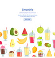 flat smoothie banner with place for text vector image vector image