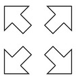 four arrows pointing to different directions from vector image vector image