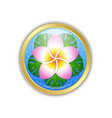 golden hawaiian badge in polynesian style vector image