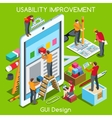 GUI design 03 People Isometric vector image vector image