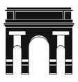 historical arch icon simple style vector image vector image