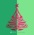 Holidays Christmas tree vector image vector image