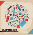 industrial electronic background vector image vector image
