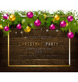 invitation to christmas party vector image vector image