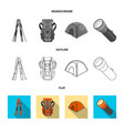 isolated object of mountaineering and peak symbol vector image
