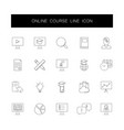 line icons set online course pack vector image vector image