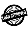 Loan approved stamp vector image vector image