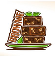 logo for brownie vector image vector image