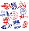 made in usa set grunge stamps vector image