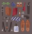 man accessories male style gentleman wallet vector image vector image