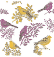 nature birds vector image vector image