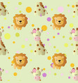 pattern with cartoon cute toy baby giraffe vector image