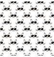 pattern with cute cats with black sunglasses vector image vector image
