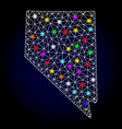 polygonal mesh map of nevada state with vector image