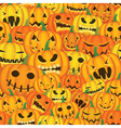 pumpkins seamless background vector image vector image