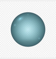 realistic water bubble isolated template for your vector image vector image