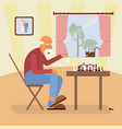 retired age alone man vector image