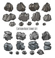 rock stone set in cartoon style vector image