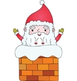 Santa Claus in the chimney vector image vector image