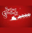 santa claus riding his sleigh vector image vector image