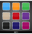 set of colorful app icon templates buttons vector image