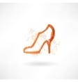 Shoe grunge icon vector image