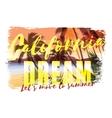 Tropical beach summer print with slogan vector image vector image