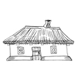 Ukrainian traditional house vector image