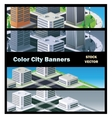 urban buildings vector image vector image
