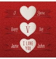 Valentines Day Labels and Ribbons Set vector image vector image