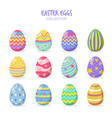 variety easter eggs set vector image vector image