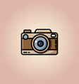 vintage camera or retro camera flat vector image