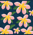 colorful tropical seamless pattern vector image
