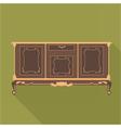 Digital vintage green cabinet furniture vector image