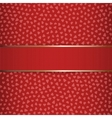 Valentines Day or Christmas red Ribbon vector image