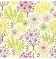 Blossoming trees seamless pattern background vector image