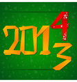 2014 New Year card with figures falling down vector image vector image