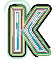 Abstract colorful Letter K vector image vector image