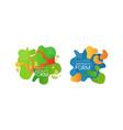 abstract form logo design set bright dinamic vector image vector image