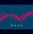 abstract pink color wave on dark blue background vector image