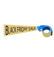 Adhesive Tape Dispenser With Word Black Friday vector image vector image