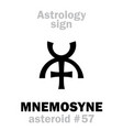 astrology asteroid mnemosyne vector image vector image