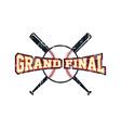 baseball league theme vector image vector image